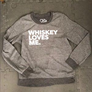 Whiskey loves me sweater